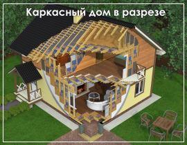 Проекты каркасных домов 6x10