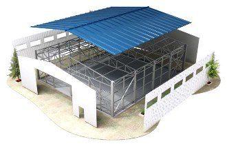 Строительство ангара из ЛСТК в Самаре
