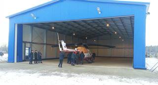 Строительство вертолетных ангаров