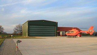 Ангар для хранения вертолета