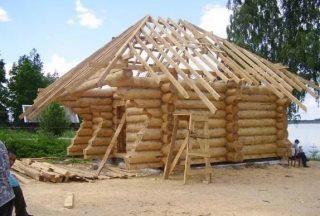Фото строительства русской бане в Самаре