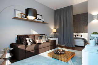 Фото Дизайн интерьера однокомнатной квартиры
