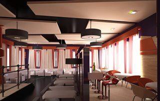 Дизайн интерьера кафе в Самаре