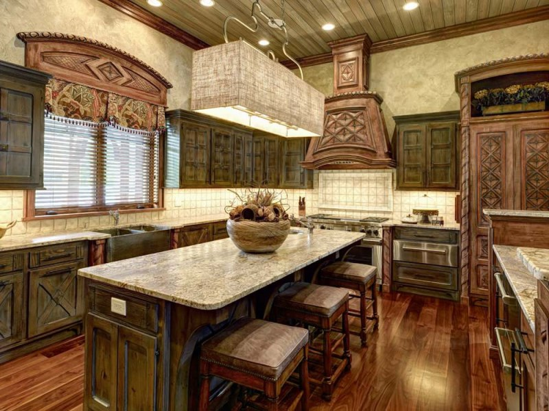 должен дизайн кухни под старину фото приятно