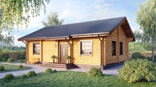Проекты одноэтажных домов из бревна в Самаре