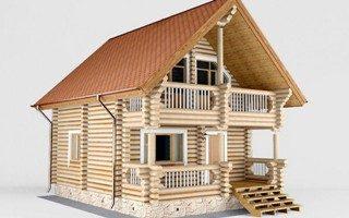 Проекты домов 5х5 из оцилиндрованного бревна в Самаре