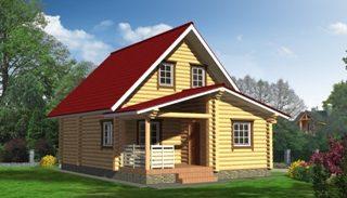 Проекты домов 5х6 из оцилиндрованного бревна в Самаре