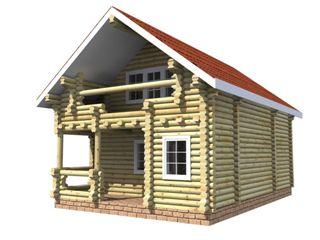 Проекты домов 6х6 из оцилиндрованного бревна в Самаре