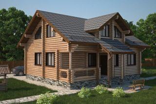Проекты домов 6х7 из оцилиндрованного бревна в Самаре