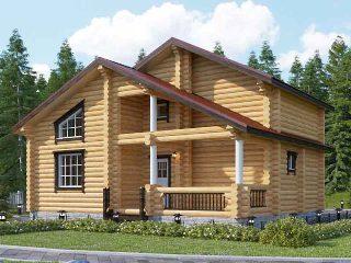 Проекты домов 6х9 из оцилиндрованного бревна в Самаре