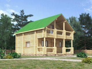 Проекты домов 7х7 из оцилиндрованного бревна в Самаре