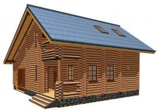 Проекты домов 7х8 из оцилиндрованного бревна в Самаре