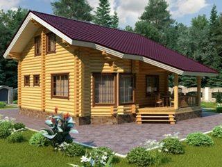 Проекты домов 7х9 из оцилиндрованного бревна в Самаре
