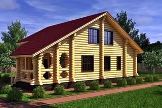 Проекты домов 8х8 из оцилиндрованного бревна в Самаре