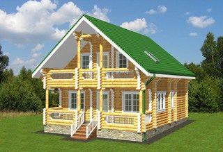 Проекты домов 8х9 из оцилиндрованного бревна в Самаре