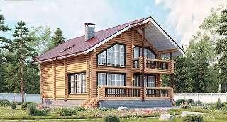 Проекты домов 8х10 из оцилиндрованного бревна в Самаре