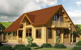 Проекты домов 9х9 из оцилиндрованного бревна в Самаре