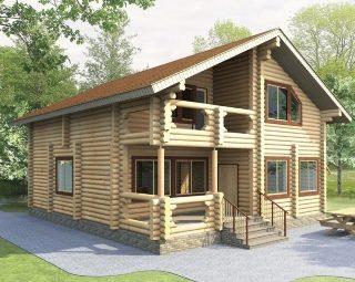 Проекты домов 9х10 из оцилиндрованного бревна в Самаре