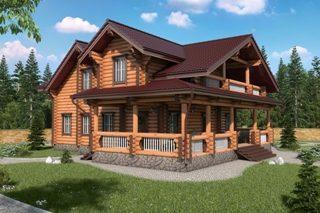 Проекты домов 9х12 из оцилиндрованного бревна в Самаре