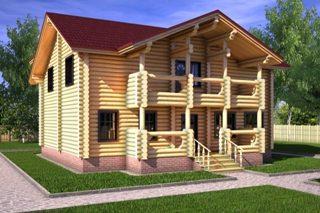 Проекты домов 10х10 из оцилиндрованного бревна в Самаре