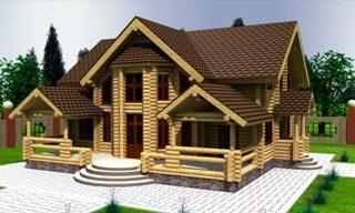 Проекты домов 10х12 из оцилиндрованного бревна в Самаре