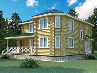 Проекты домов 12х12 из оцилиндрованного бревна в Самаре