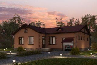 Проекты одноэтажных домов из кирпича в Самаре