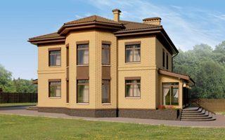 Проекты двухэтажных домов из кирпича в Самаре