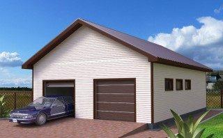 Строительство ЛСТК гаража на 2 машины