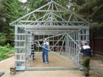 Строительство каркасного гаража в Самаре