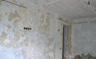 Фото процесса Штробление стен в Самаре