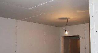 Фото процесса Ремонт потолка в Самаре