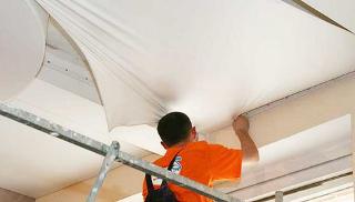 Фото процесса Монтаж натяжных потолков в Самаре