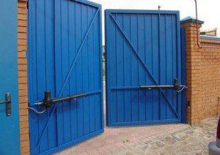 Фото процесса производства Промышленные распашные ворота в Самаре