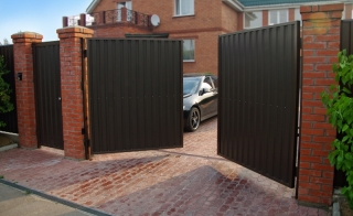 Распашные ворота для дачи в Самаре