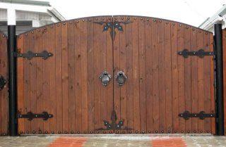 Деревянные распашные ворота в Самаре