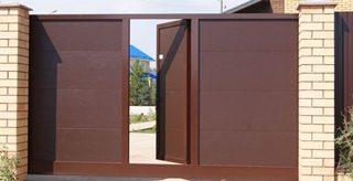 Откатные ворота с калиткой в Самаре