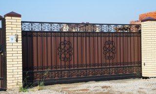 Кованые ворота откатные в Самаре