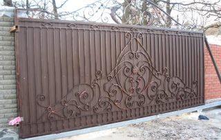 Фото процесса производства Кованые ворота откатные в Самаре