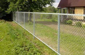 Забор из сетки рабицы в Самаре