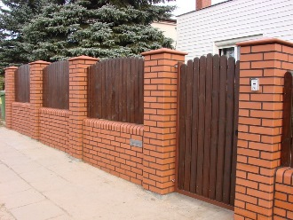 Кирпичный забор под ключ в Самаре