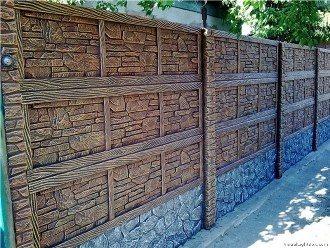 Еврозаборы из бетона в Самаре